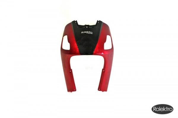 Quad25 - Verkleidung, Frontschürze rot mit schwarzem Schild