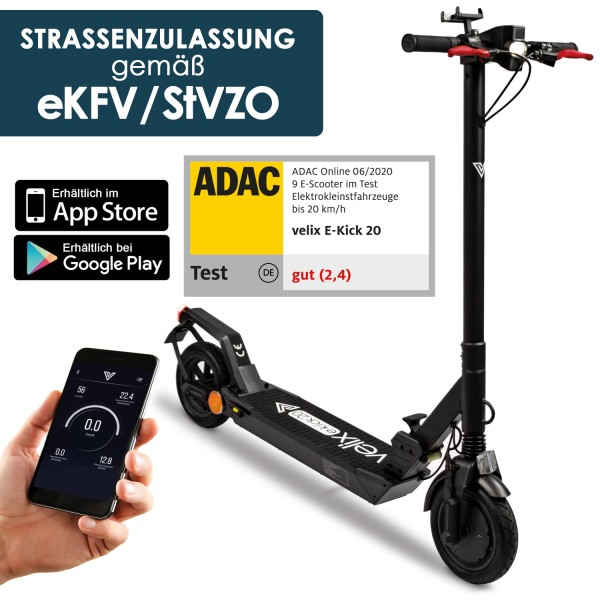 Velix E-Kick 20, V.2021, Elektrokleinstroller nach EkFV