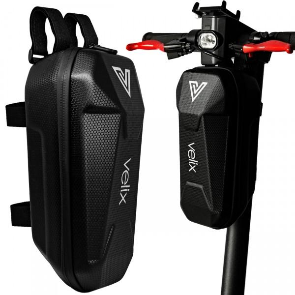 Velix-Zub., Tasche für Lenker, 30cm Länge mit Haltebänder, Schwarz, mit Logo