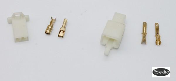 BT250 - Stecker/Connector für Plus-Akku (Stecker und Kupplung, vergoldete Kontakte)