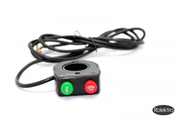 BT250 - Schalteinheit Licht + Hupe, mit 1,2 m Kabel ohne Stecker