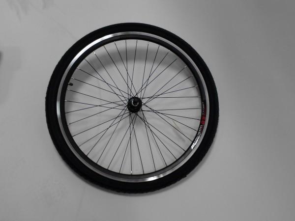 Sport Pedelec Hinterradfelge schwarz, mit Mantel / Schlauch