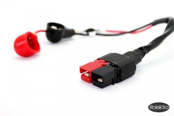 eco-Mobil 15 - Kabelverbindung von Batterie zum Gehäuse Steuerelektronik