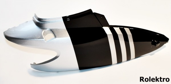 BT200/City20/45/V2 - Verkleidung : Hinten oberteil rechts, silber/schwarz