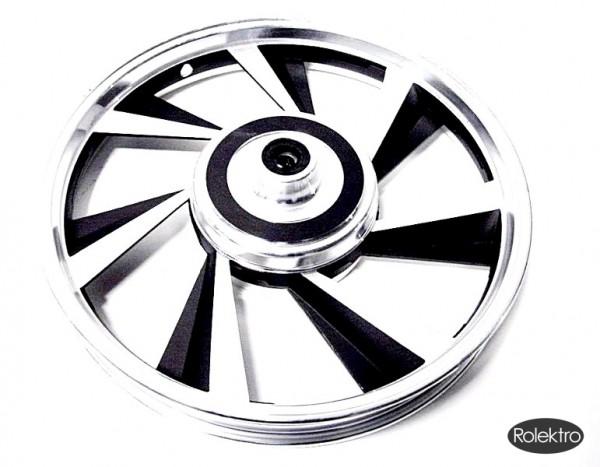 BT200/City20/45 - Vorderradfelge, schwarz/silber
